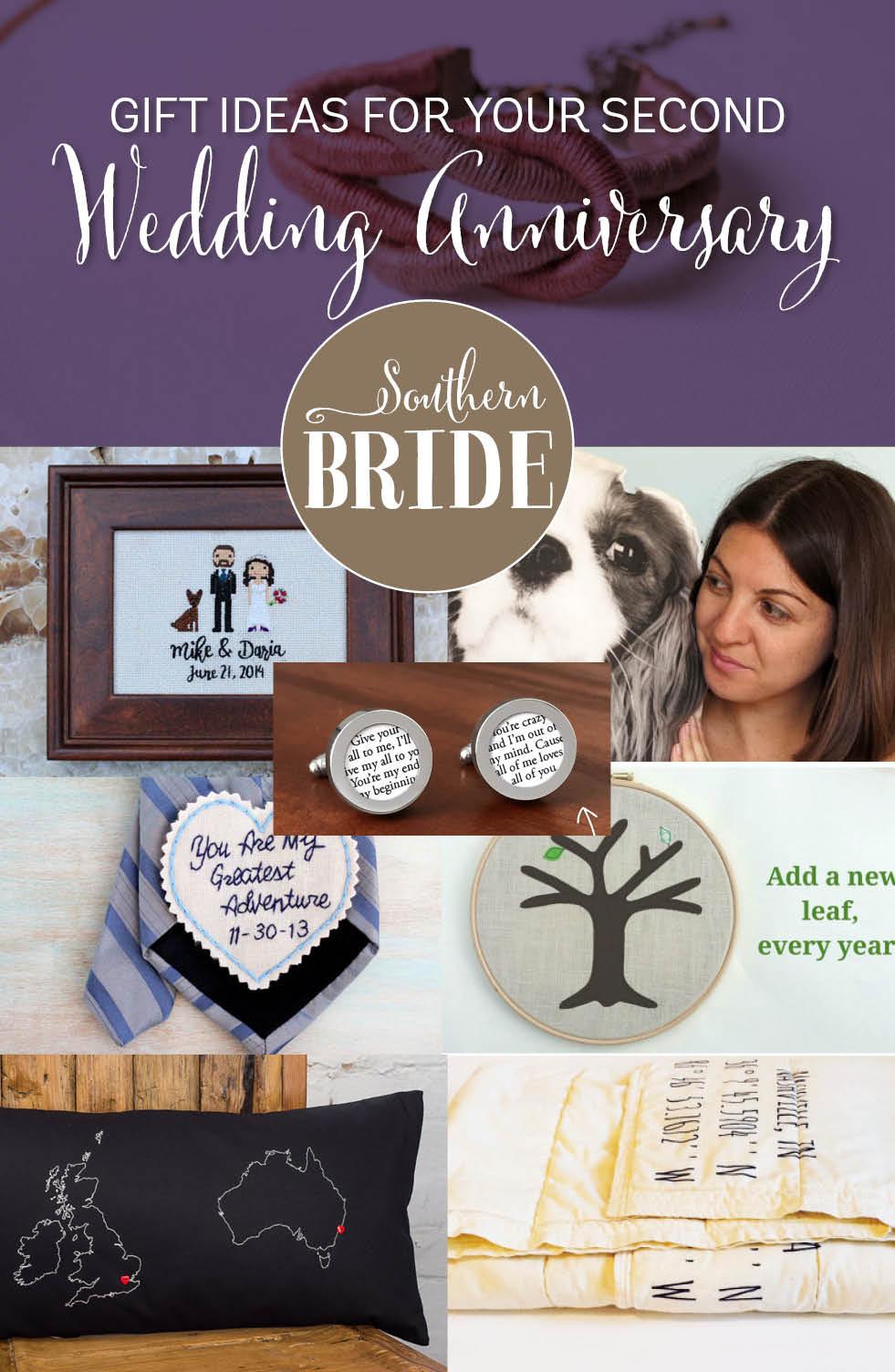 2Nd Wedding Anniversary Gift Ideas  Second wedding anniversary present ideas Southern Bride