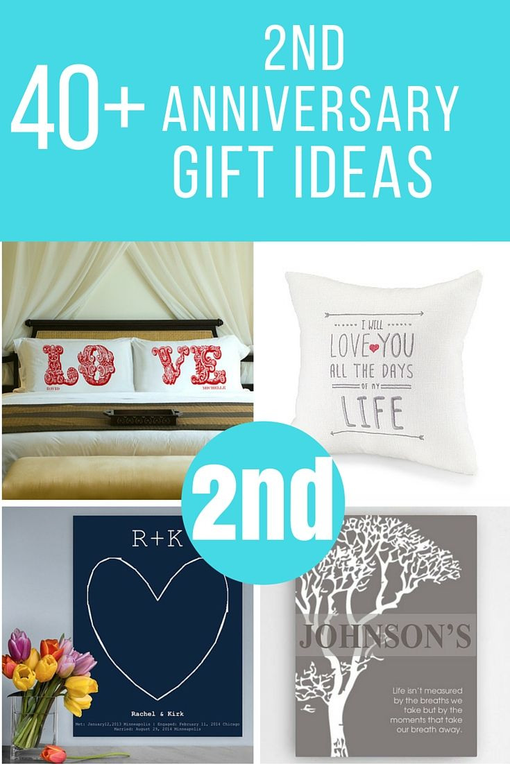 2Nd Wedding Anniversary Gift Ideas  Lots of 2nd anniversary ts to help you find the perfect