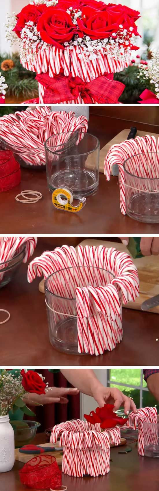 Adult Christmas Party Ideas  Candy Cane Vase