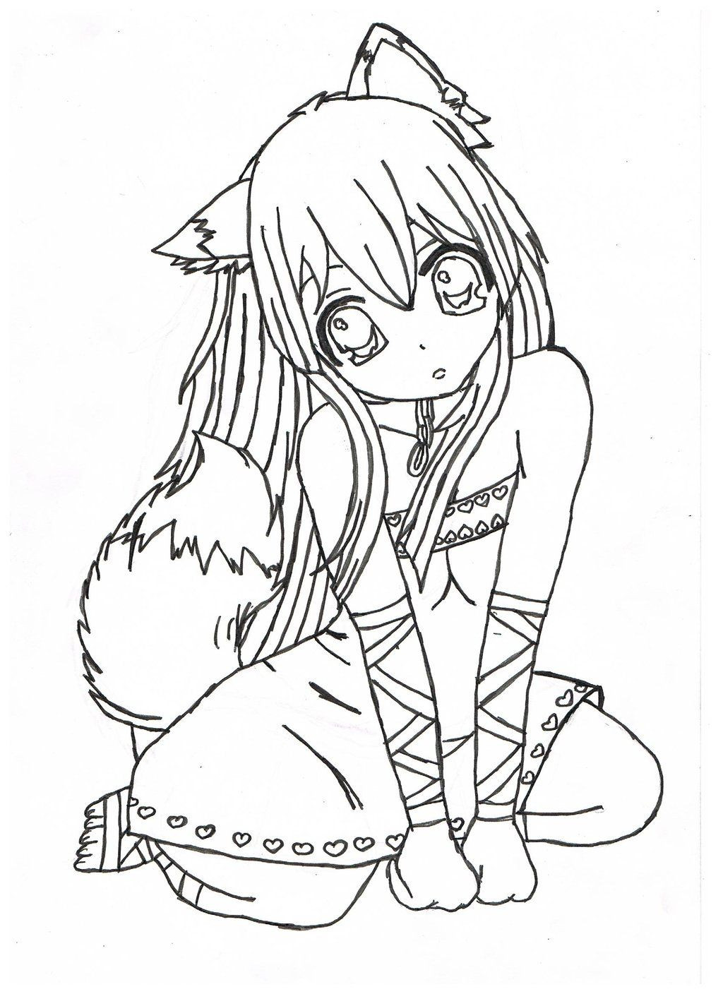 Anime Coloring Pages Printable  Print Anime Coloring Pages Coloring Home