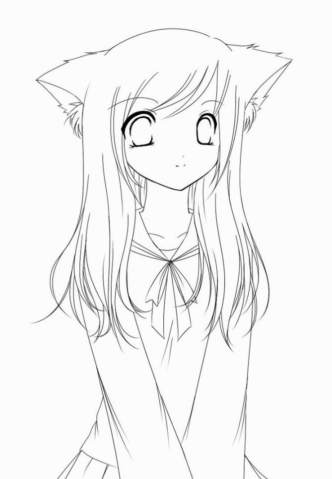 Anime Coloring Pages Printable  Anime Coloring Pages Coloring Pages