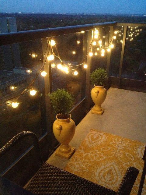 Apartment Balcony Christmas Lights  17 Best ideas about Balcony Lighting on Pinterest