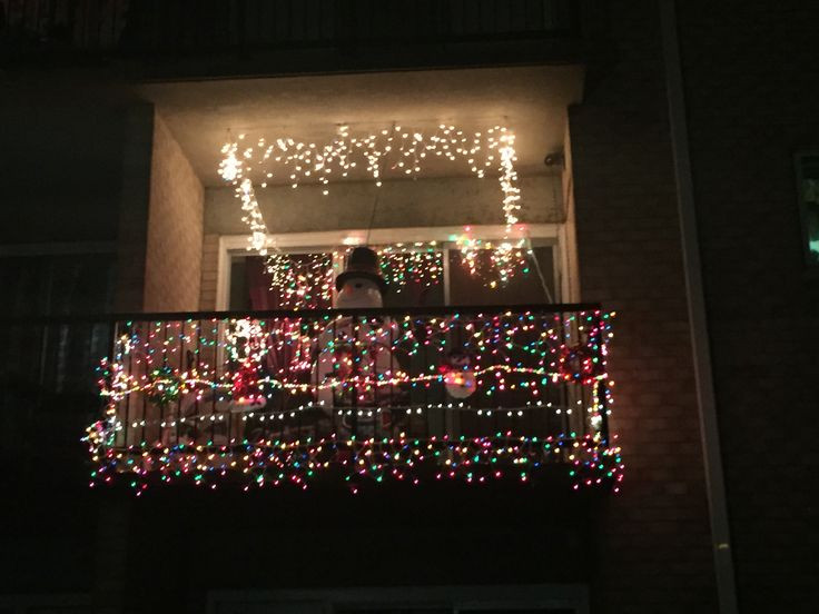 Apartment Balcony Christmas Lights  7 best Christmas balcony images on Pinterest