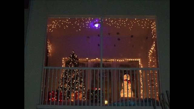 Apartment Balcony Christmas Lights  1000 images about Balcony Christmas lights on Pinterest