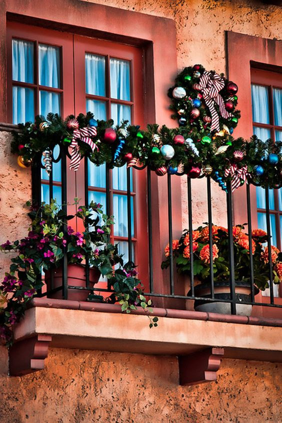 Apartment Balcony Christmas Lights  Balconies Apartment balconies and Christmas on Pinterest