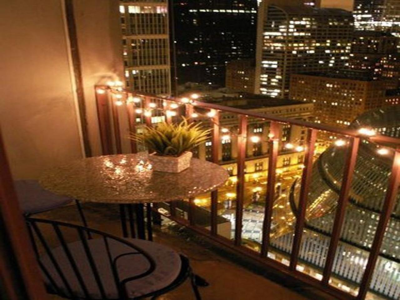 Apartment Balcony Christmas Lights  Christmas light decor idea small balcony ideas about