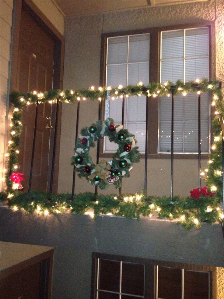 Apartment Balcony Christmas Lights  242 best images about the Christmas balcony on Pinterest