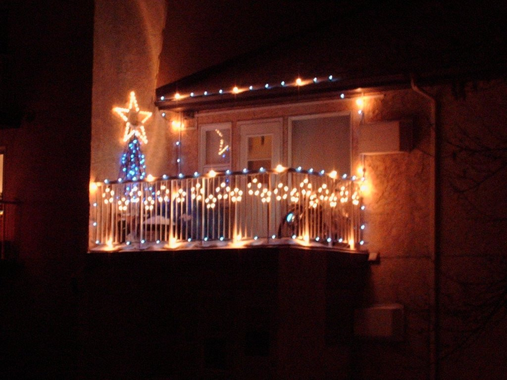 Apartment Balcony Christmas Lights  Granny s Pride Christmas is just a month away