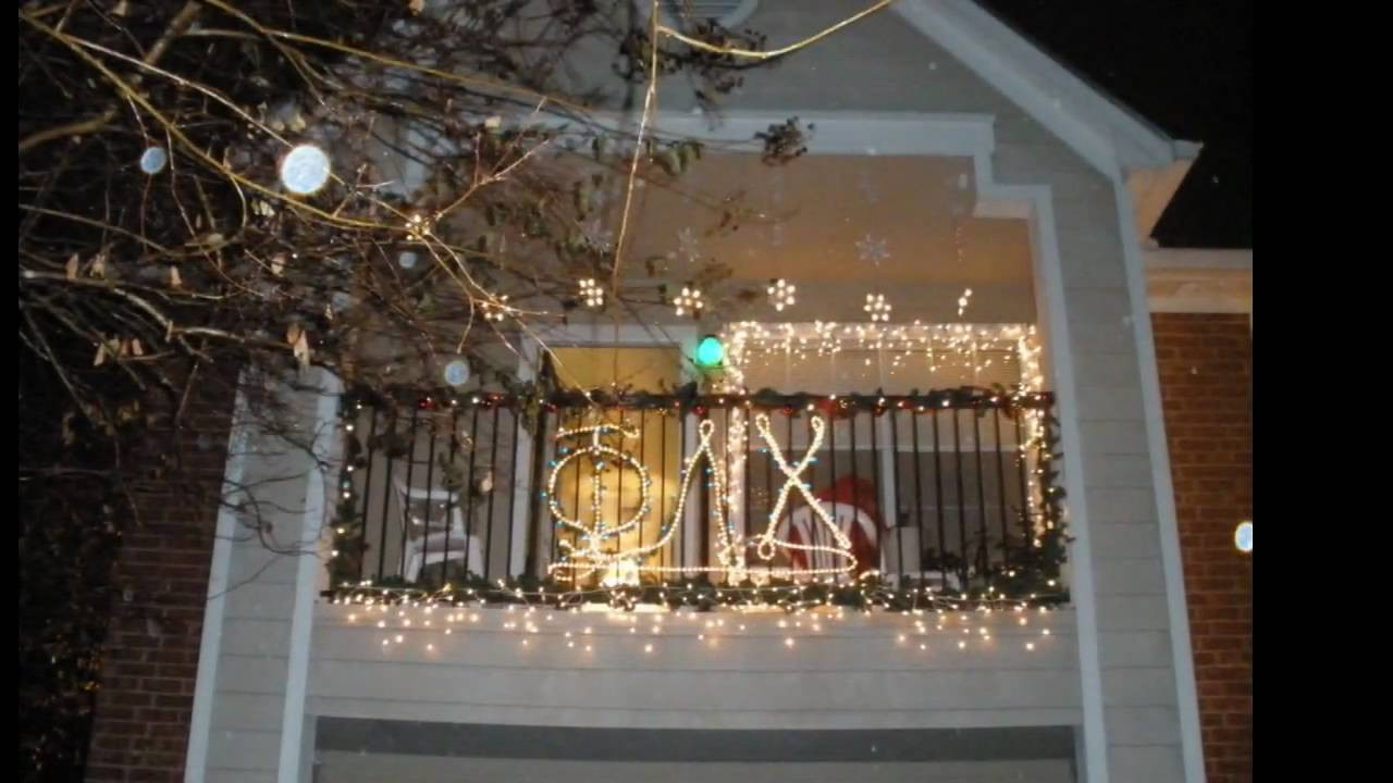 Apartment Balcony Christmas Lights  Balcony Decorating Contest 2009 Jacob Wood