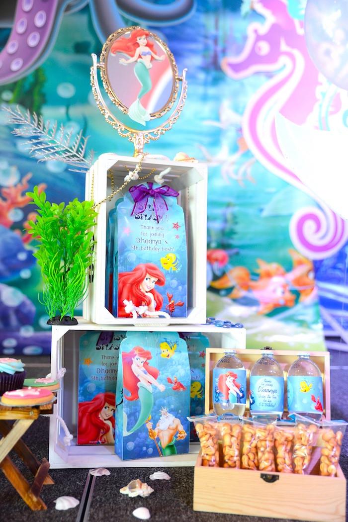 Ariel Little Mermaid Party Ideas  Kara s Party Ideas Ariel the Little Mermaid Birthday Party