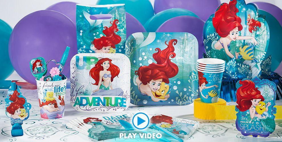 Ariel Little Mermaid Party Ideas  Little Mermaid Party Supplies Little Mermaid Birthday