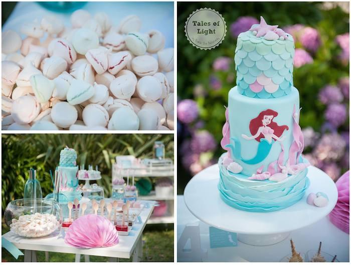 Ariel Little Mermaid Party Ideas  Kara s Party Ideas Ariel Little Mermaid Themed Birthday