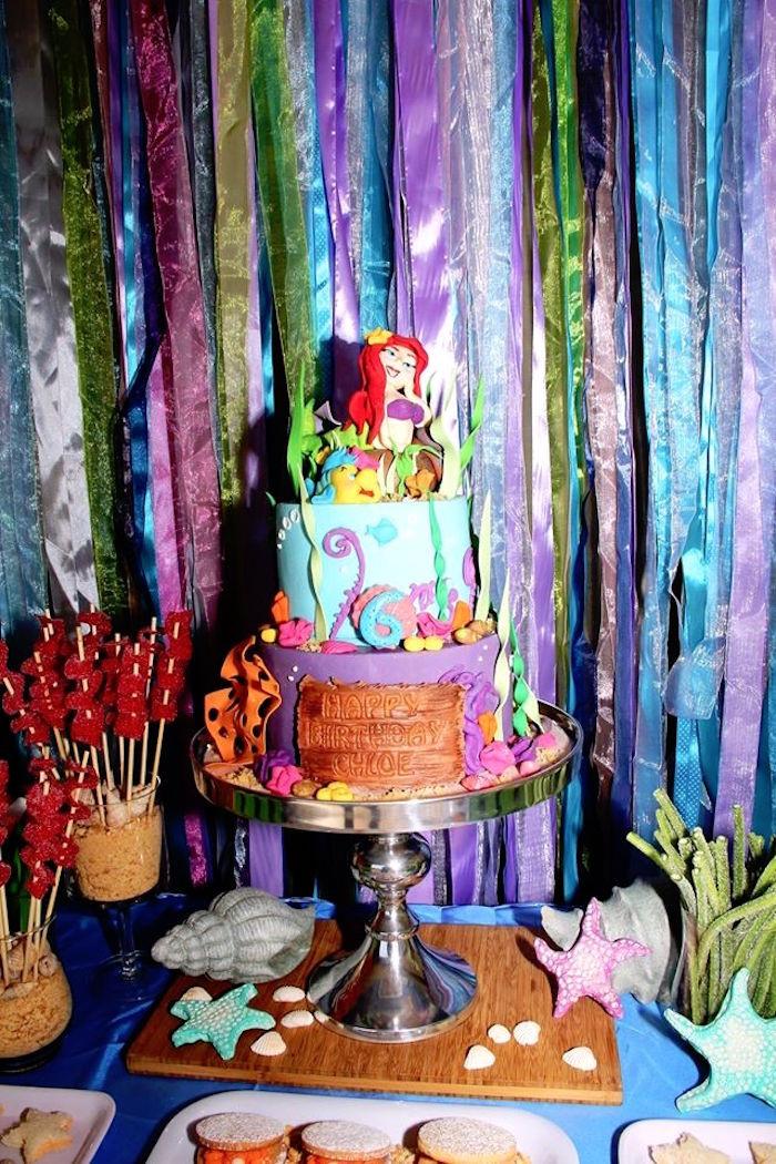 Ariel Little Mermaid Party Ideas  Kara s Party Ideas Ariel The Little Mermaid Birthday