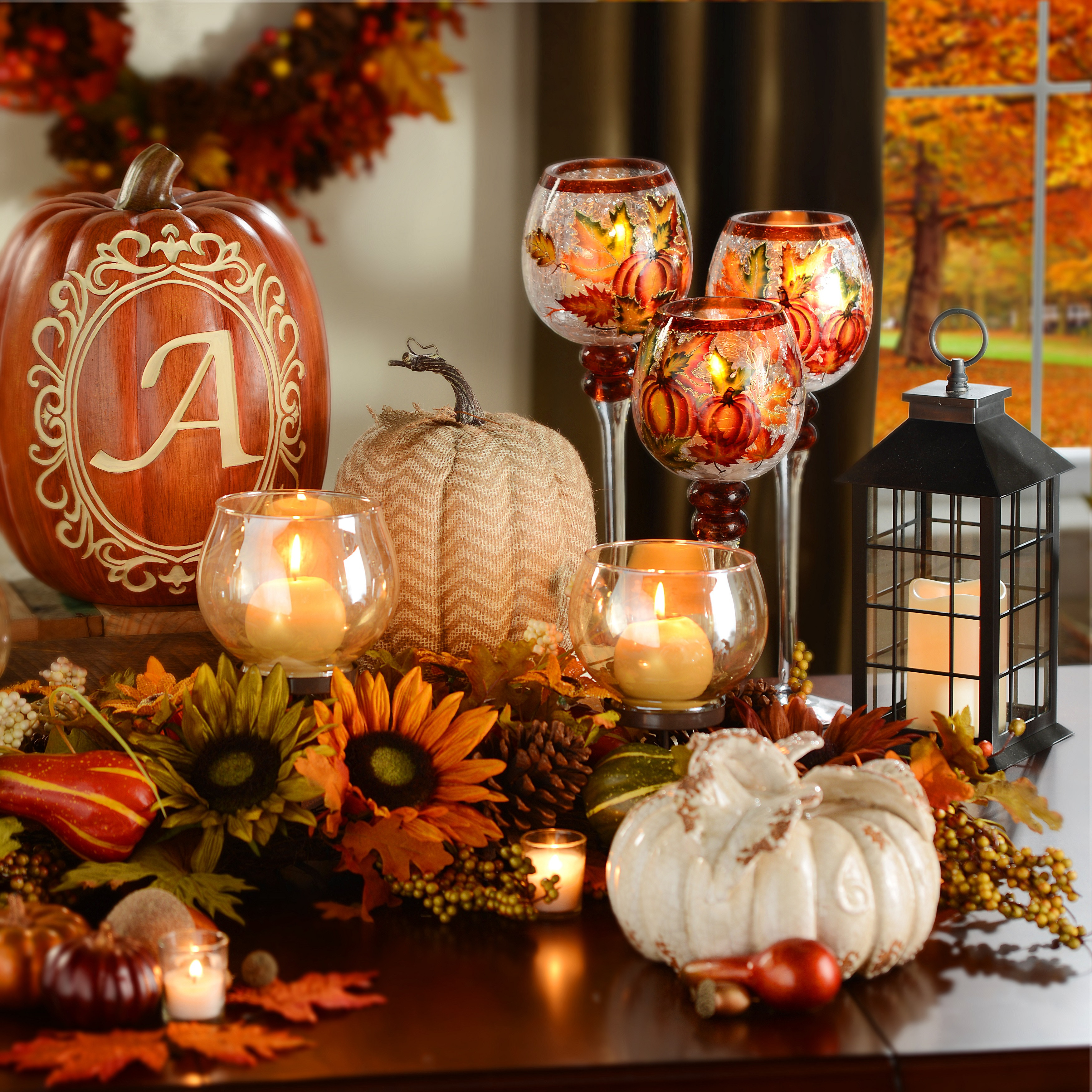 At Home Fall Decor  Fall Decorating Tips From The ZA Staging Team