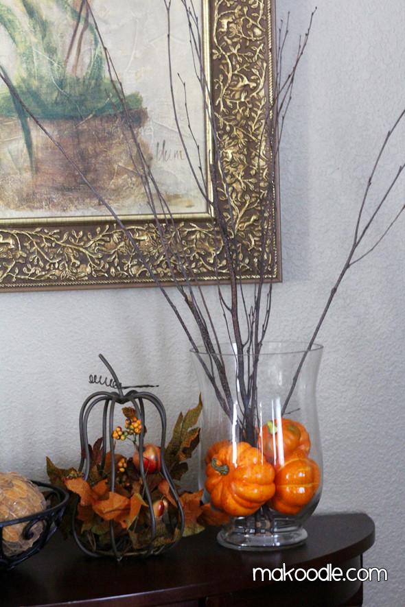 At Home Fall Decor  Fall Decorations Makoodle