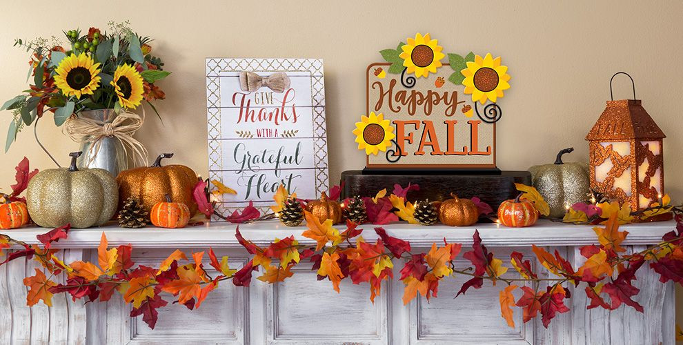 At Home Fall Decor  Fall Home Decor Party City