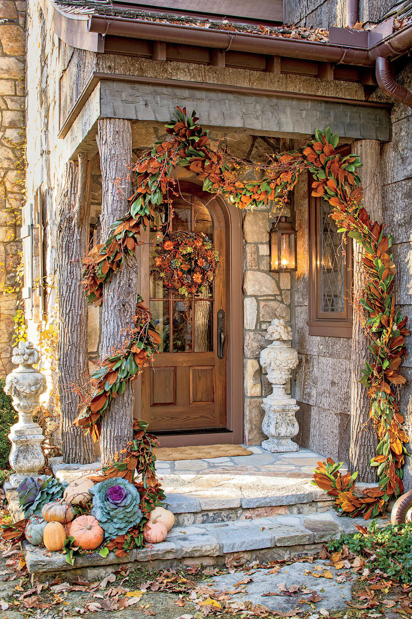At Home Fall Decor  Fall Decorating Ideas Southern Living