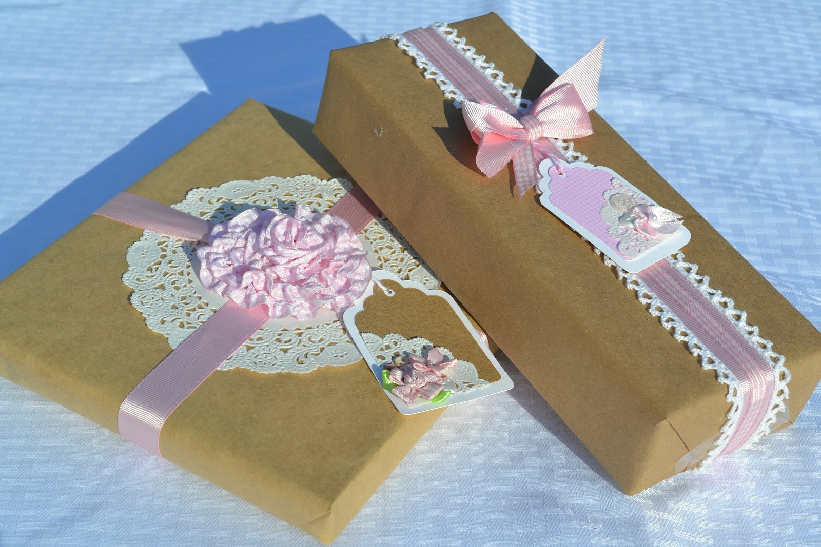Baby Gift Wrapping Ideas  Corner of Plaid and Paisley Baby Shower Gift Wrap