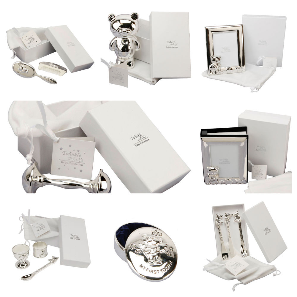 Baby Naming Gift Ideas  Personalised Silver Plated Christening Gifts Gift For