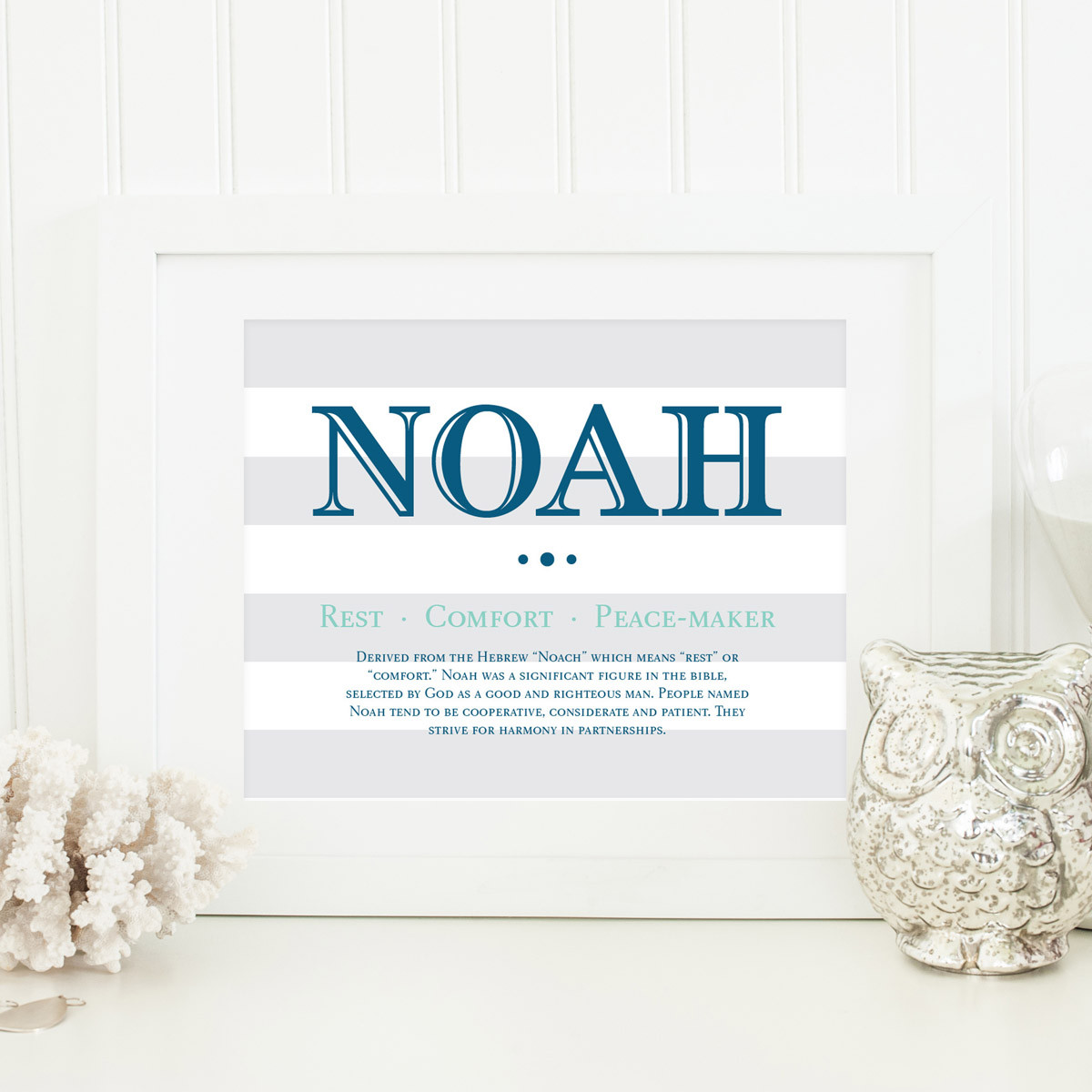 Baby Naming Gift Ideas  Baby Name Meaning Art