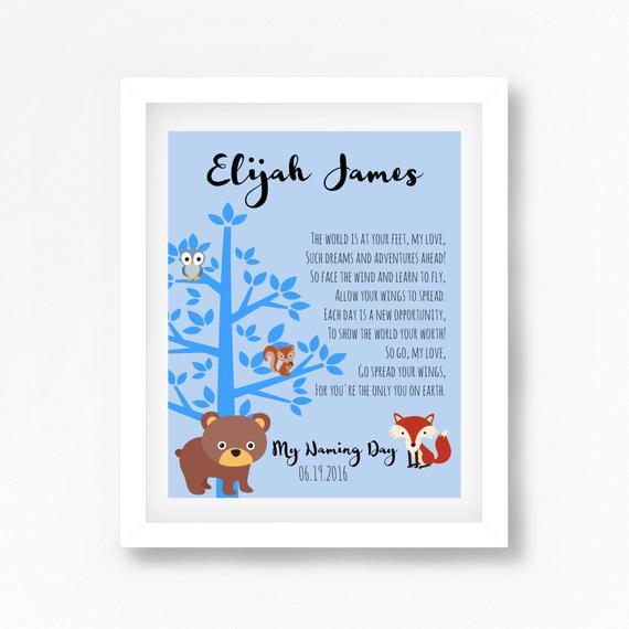 Baby Naming Gift Ideas  Naming Ceremony Gift Naming Day Poem Baby Boy Baptism Gift