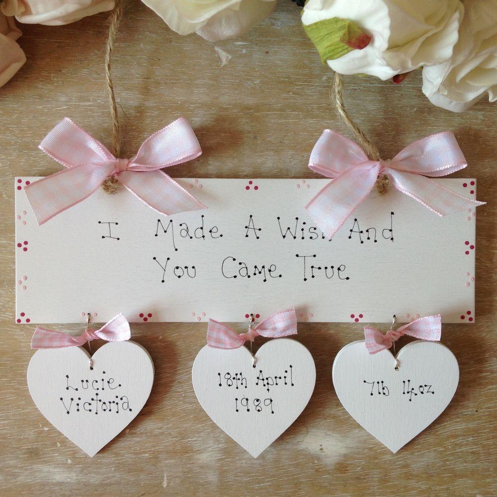 Baby Naming Gift Ideas  Personalised NewBorn Baby Girl Christening Baptism Naming