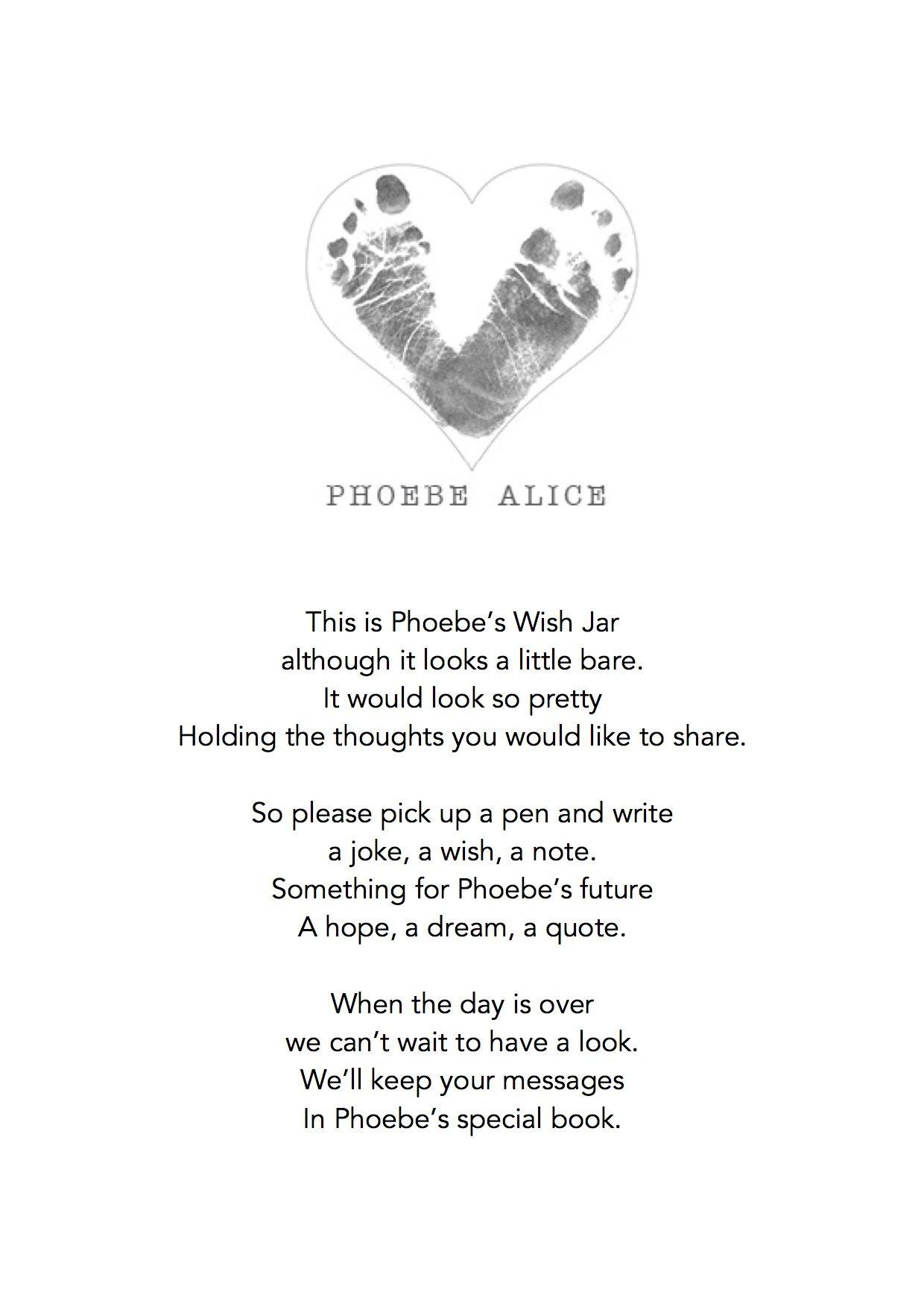 Baby Naming Gift Ideas  Naming ceremony wishes jar promises baby naming