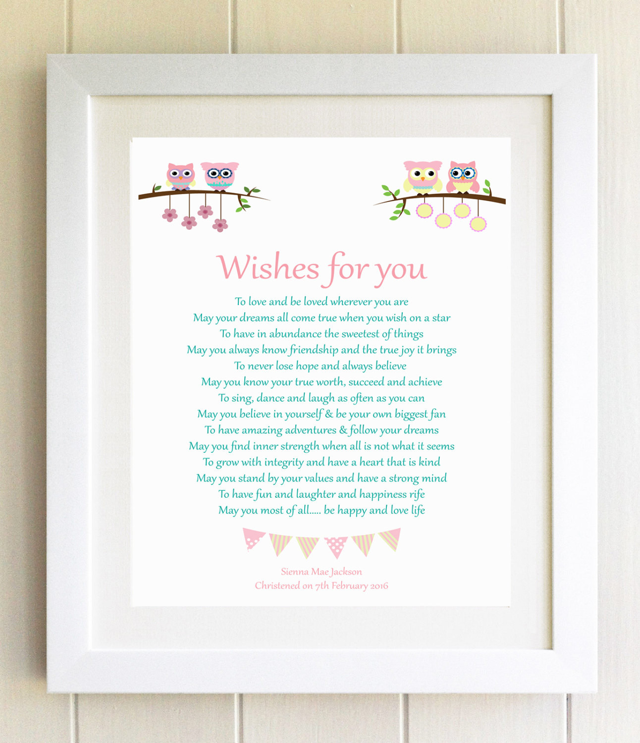 Baby Naming Gift Ideas  Christening Gift Plaque Naming Ceremony New Baby Gift Wishes