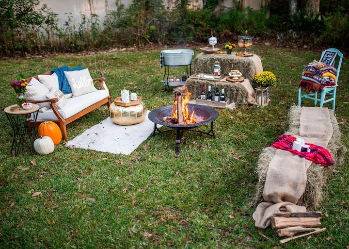 Backyard Bonfire Party Ideas  How To Host A Friendsgiving Bonfire · Haute f The Rack