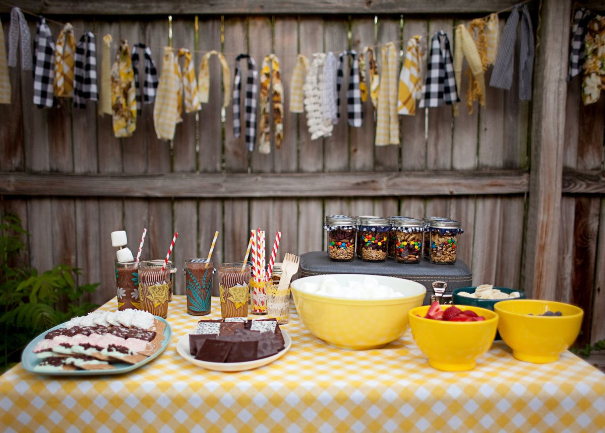 Backyard Bonfire Party Ideas  Backyard Bonfire Trail Mix Party Favors A Beautiful Mess