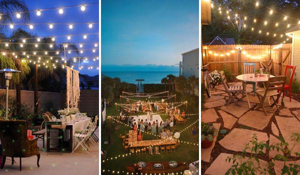 Backyard Party Ideas Lighting  26 Breathtaking Yard and Patio String lighting Ideas Will