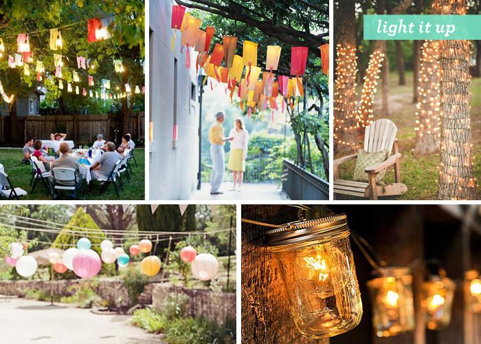 Backyard Party Ideas Lighting  Backyard Gone Glam 1 outdoor party decoration ideas