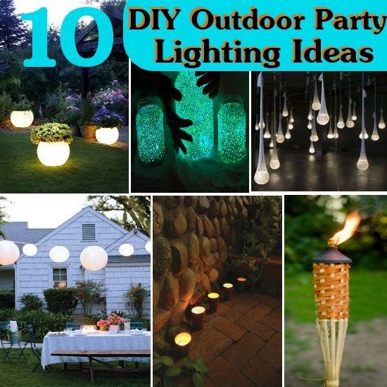 Backyard Party Ideas Lighting  10 DIY Outdoor Party Lighting Ideas