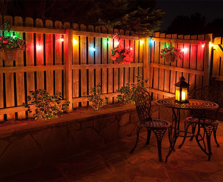 Backyard Party Ideas Lighting  Color Matters Make the Right Patio Lights Color Choice