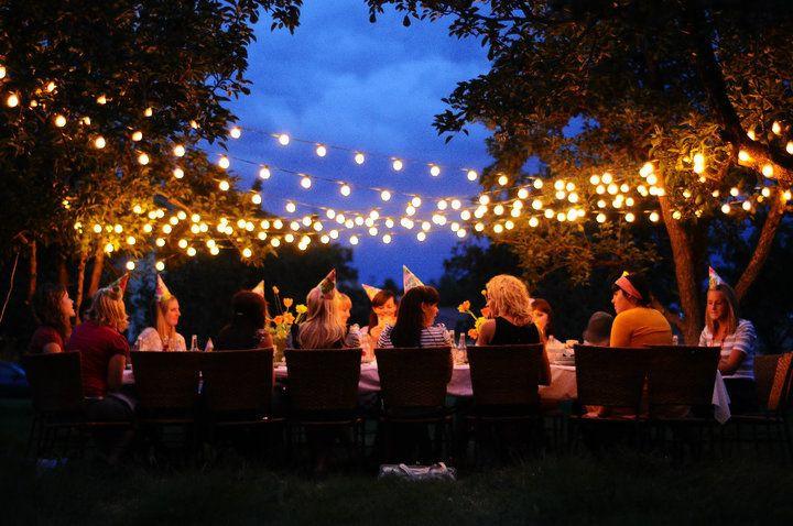 Backyard Party Ideas Lighting  Outdoor Trellis String Lighting