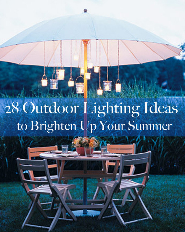 Backyard Party Lighting Ideas  28 Outdoor Lighting DIYs To Brighten Up Your Summer