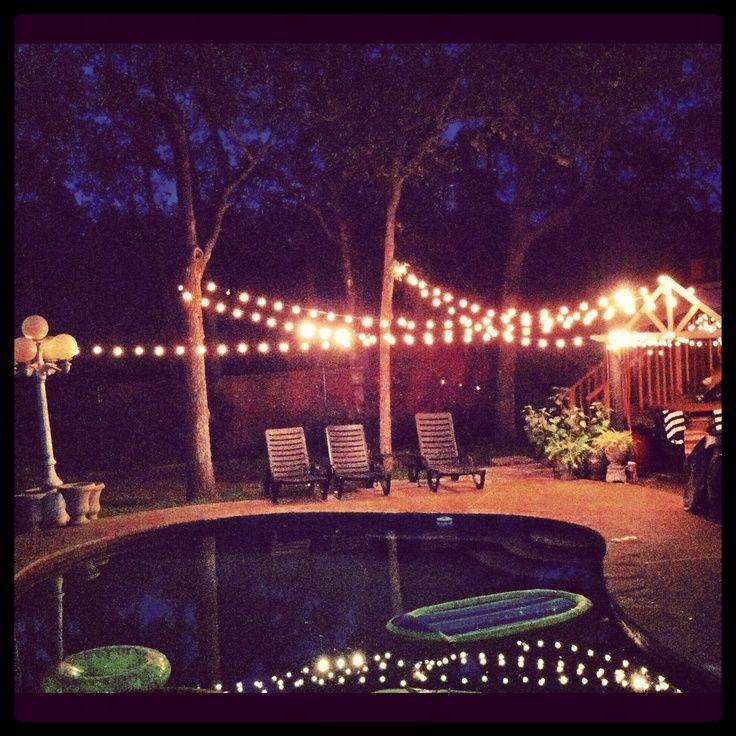 Backyard Party Lighting Ideas  lighted backyards backyard party lights