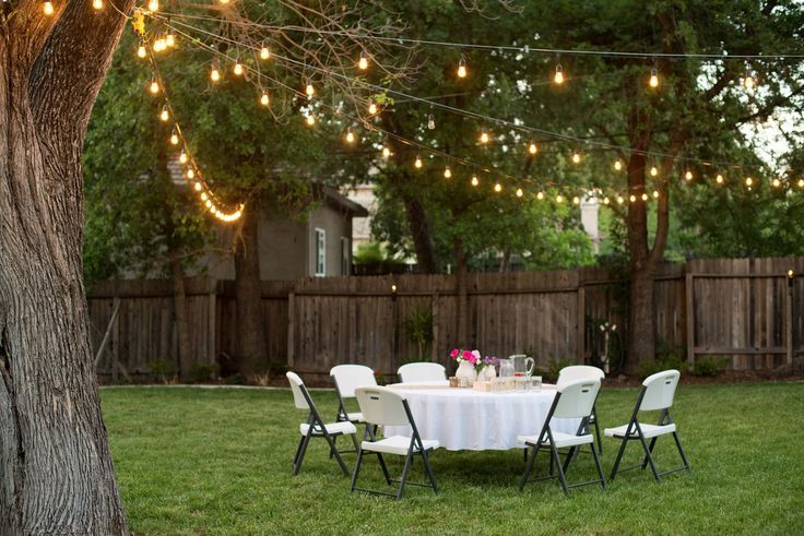 Backyard Party Lighting Ideas  Best 25 Backyard party lighting ideas on Pinterest