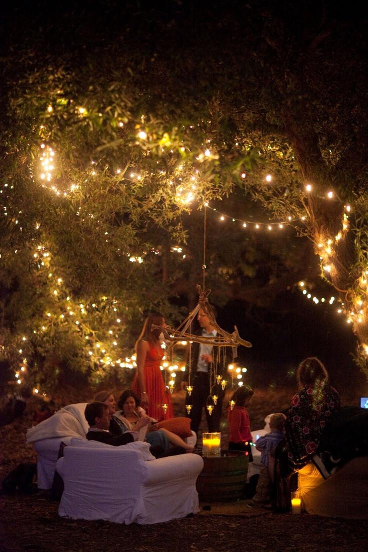 Backyard Party Lighting Ideas  Wedding Ideas Fairy Lights – we love laugh kiss