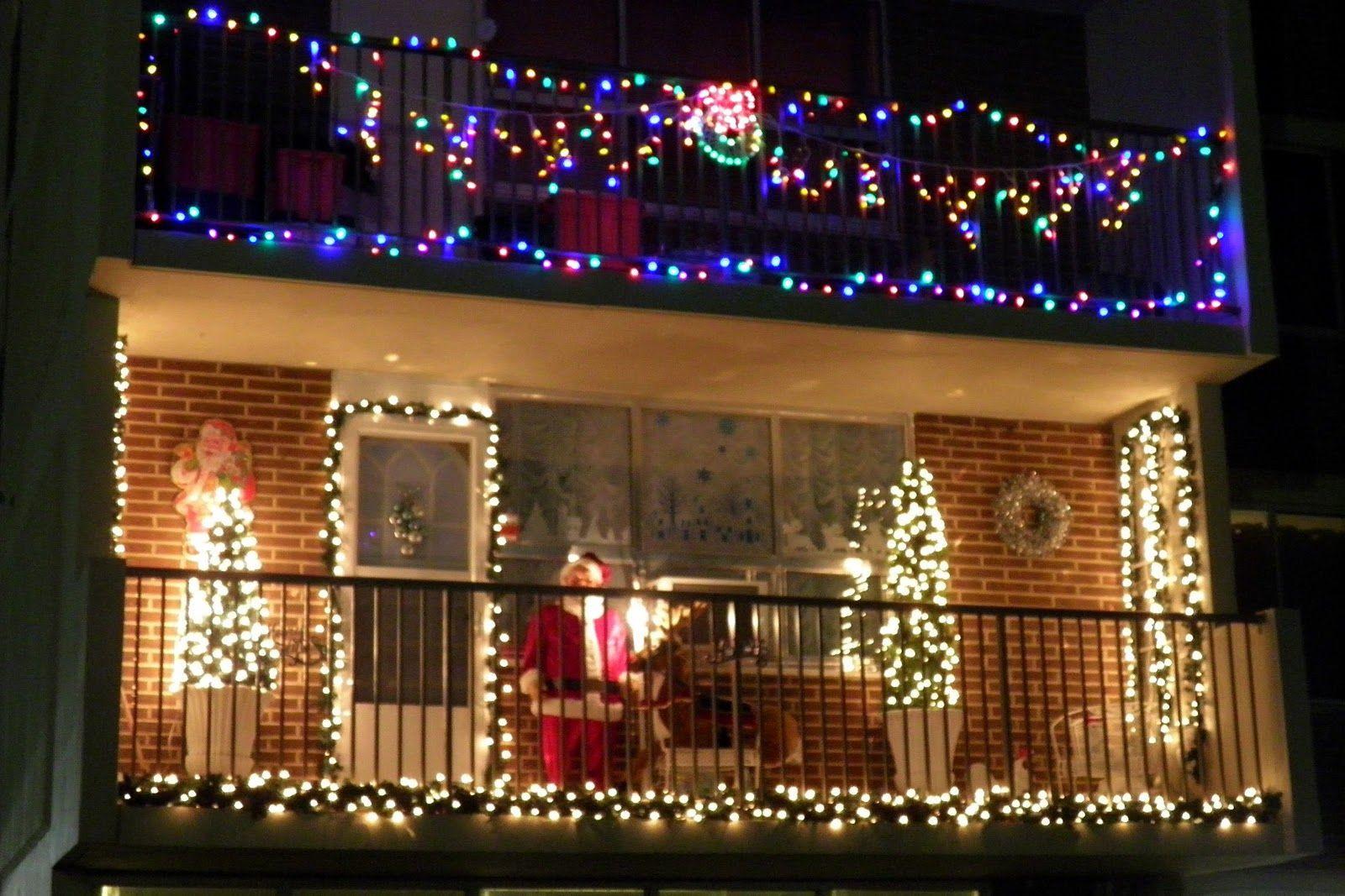 Balcony Christmas Lights  Fresh Christmas Light Ideas For Balcony Exterior Design
