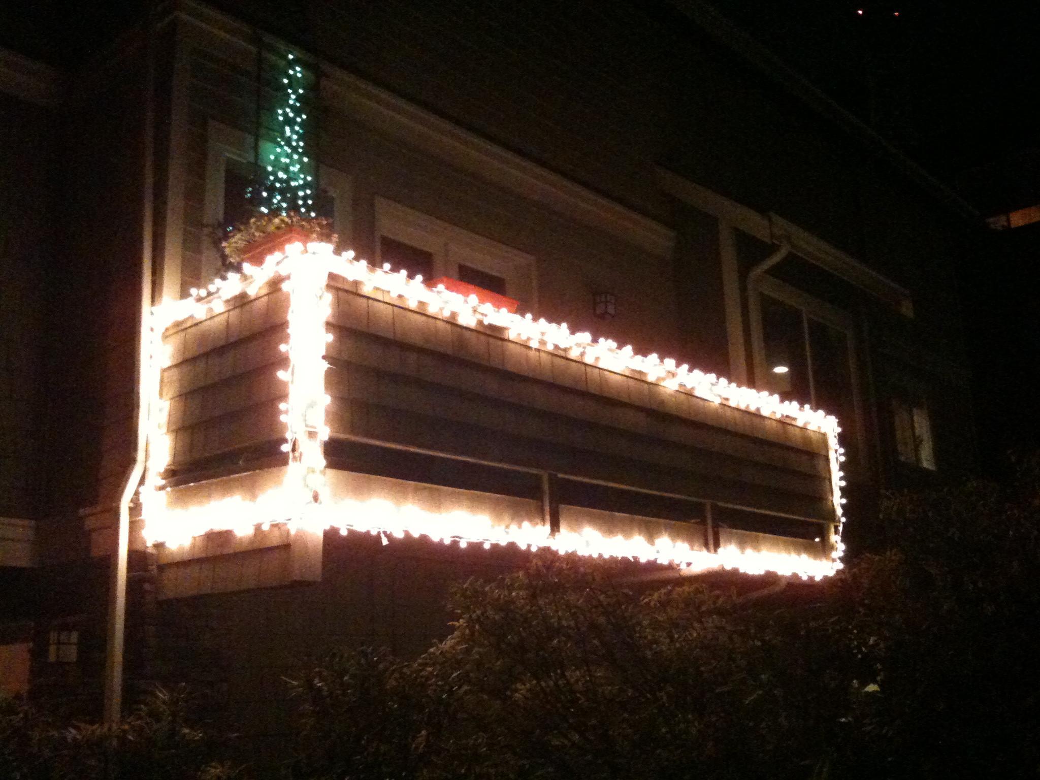 Balcony Christmas Lights  Balcony Lights
