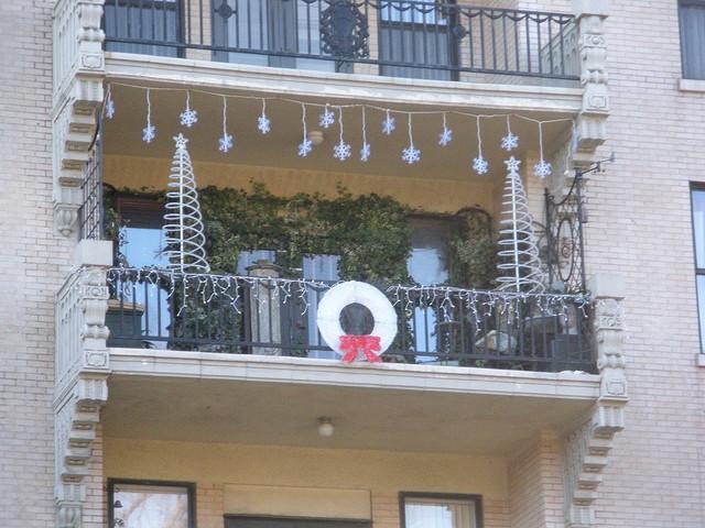 Balcony Christmas Lights  9 best Christmas Balcony images on Pinterest