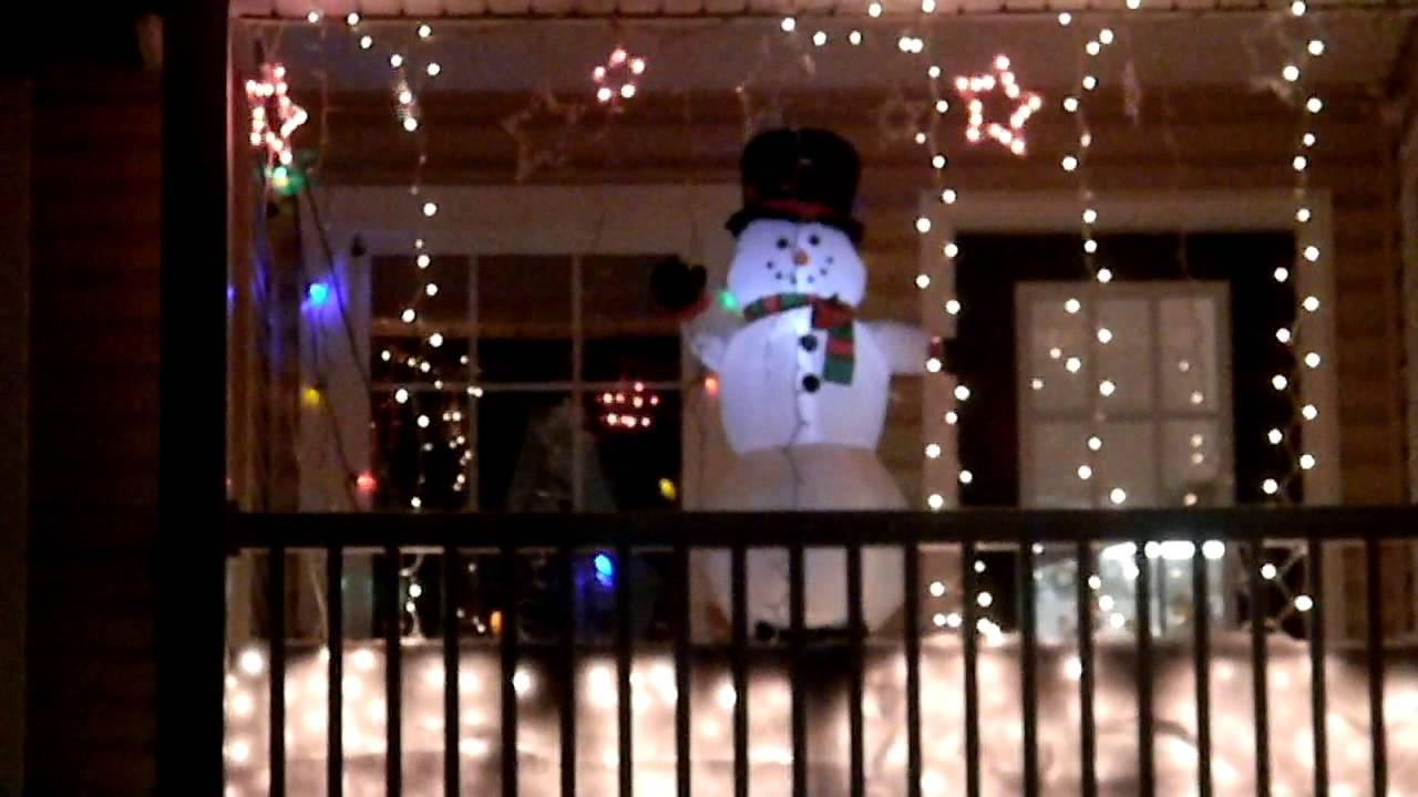 Balcony Christmas Lights  Christmas lights on balcony