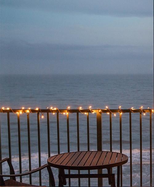 Balcony Christmas Lights  Outdoor and Patio Lighting Ideas