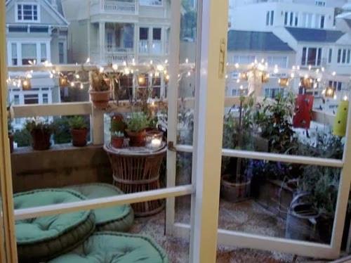 Balcony Christmas Lights  Balconies Christmas