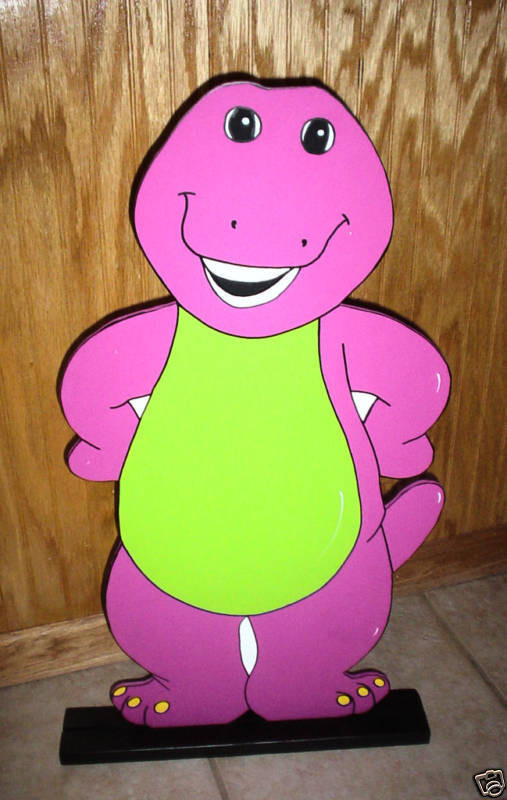 Barney Birthday Decorations  Barney stand up children s Birthday party decorations