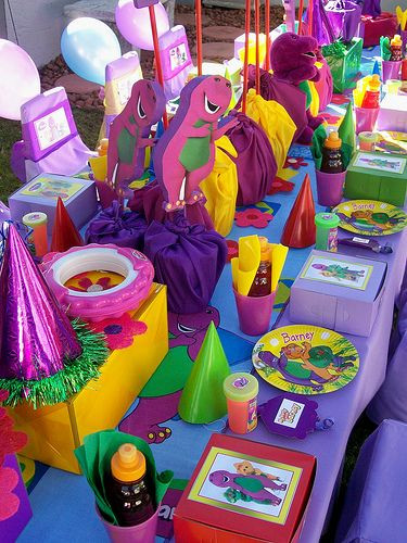 Barney Birthday Decorations  30 best images about Barney Party Ideas on Pinterest
