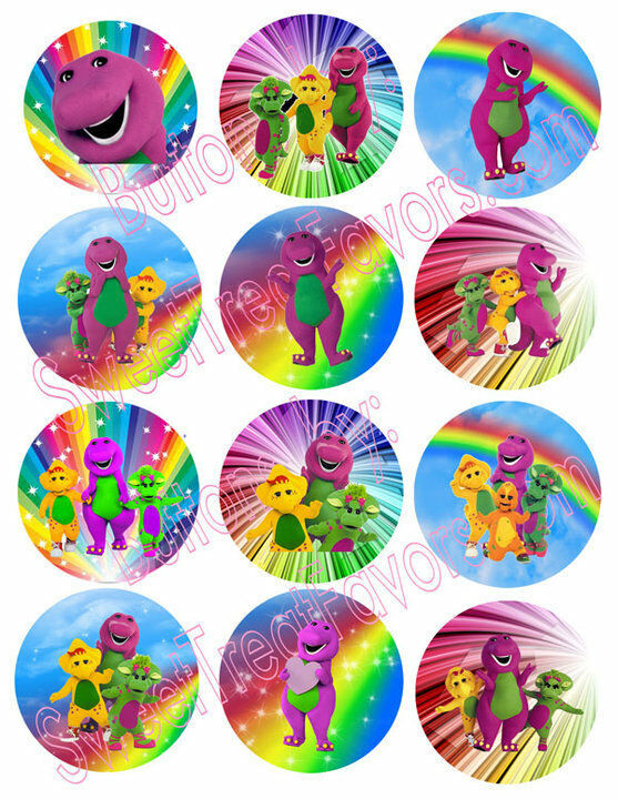 Barney Birthday Decorations  BARNEY BABY BOP Party Supplies 12 PINS Buttons FAVORS