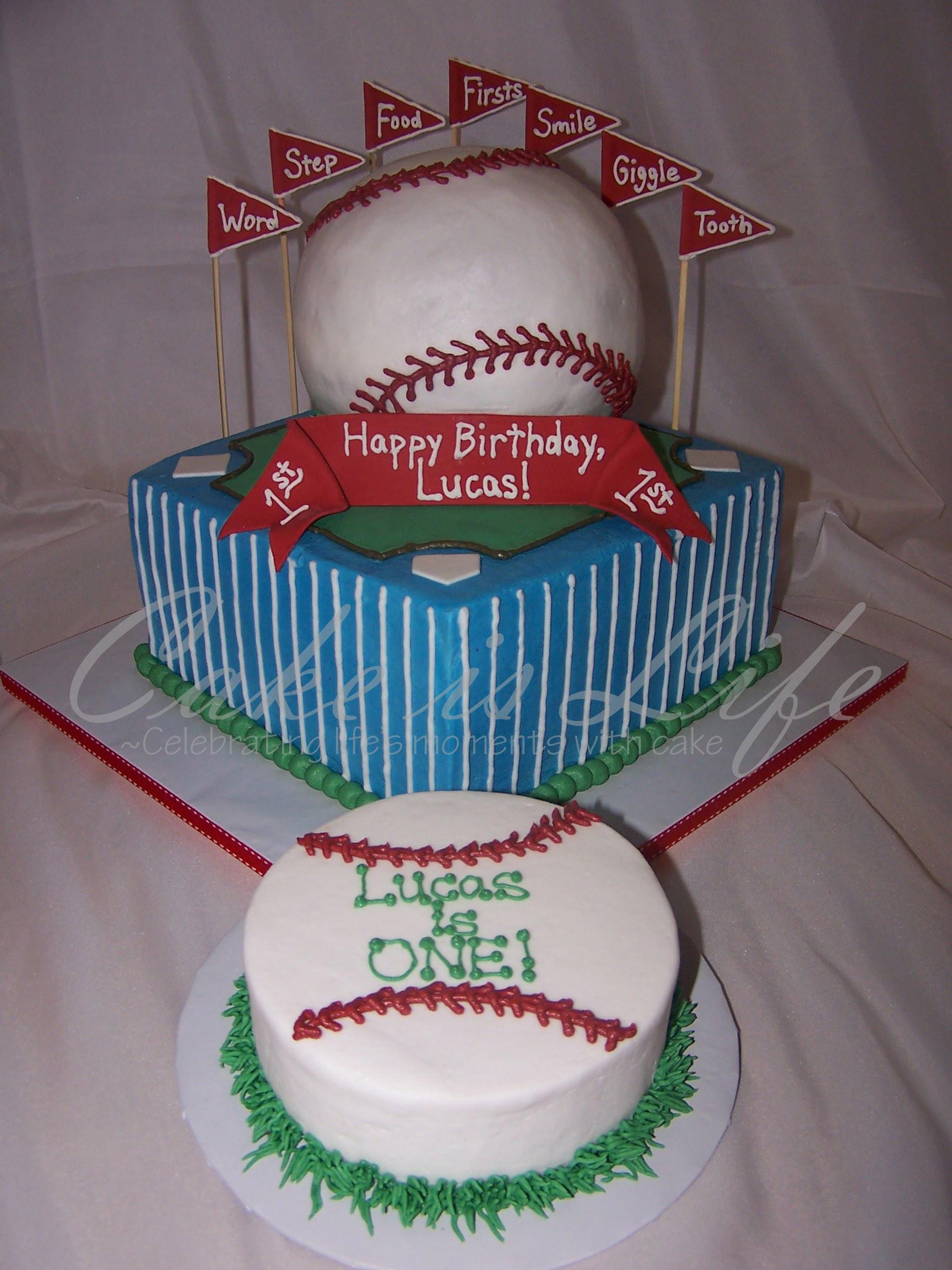 Baseball Birthday Cake  1st Birthday Baseball Cake