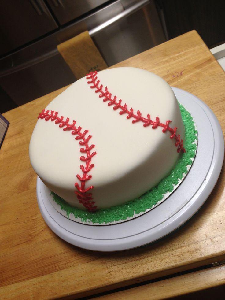 Baseball Birthday Cake  Baseball cake fondant baseball birthdaycake